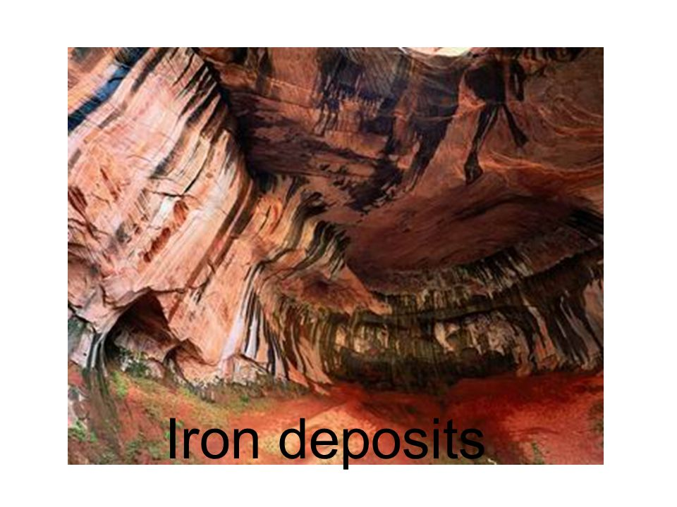 Iron deposits