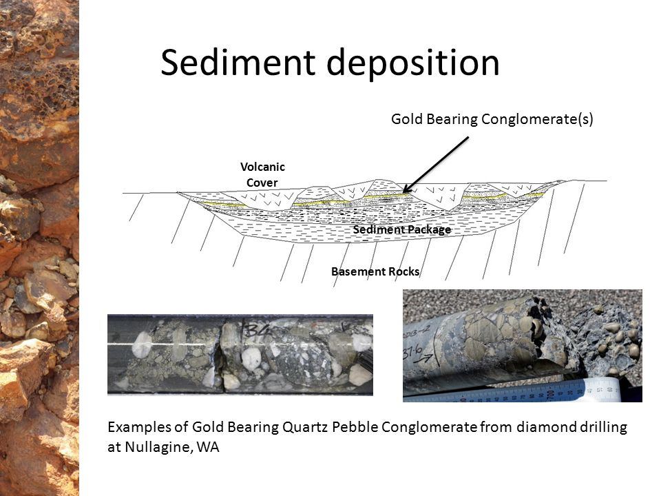Pilbara Exploration Multiple basins identified in remote regions of Western Australia that contain potential economic sediment hosted paleoplacer gold systems similar to Witwatersrand, South Africa Nullagine – resource of 421k oz.