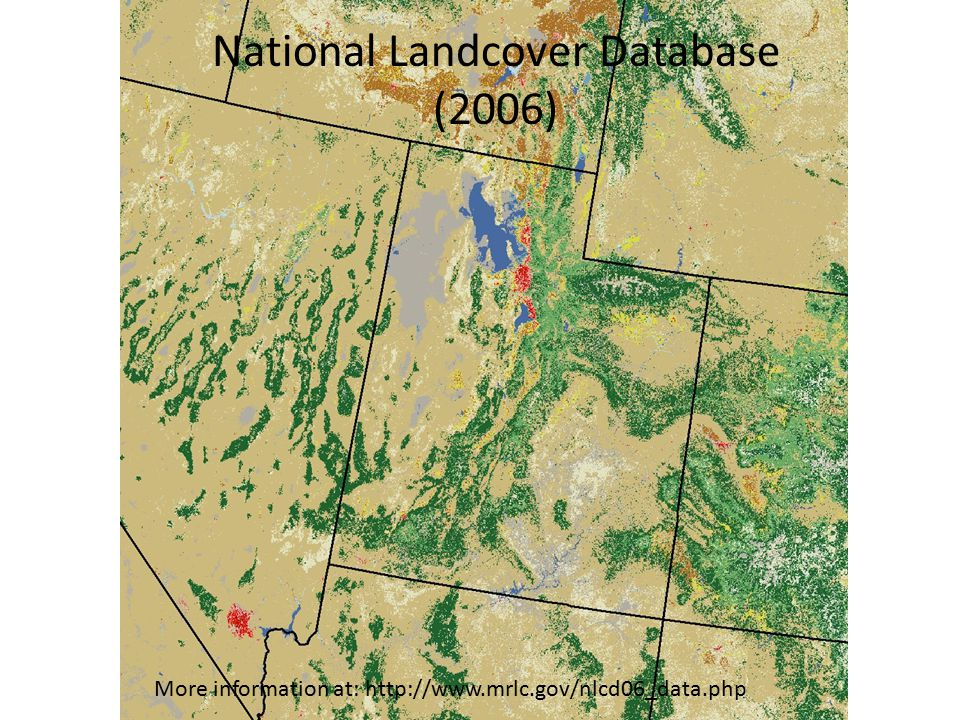 National Landcover Database (2006) More information at: http://www.mrlc.gov/nlcd06_data.php