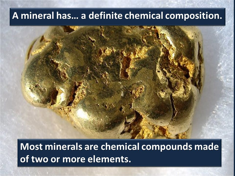 A mineral is… generally considered inorganic.A mineral is… generally considered inorganic.