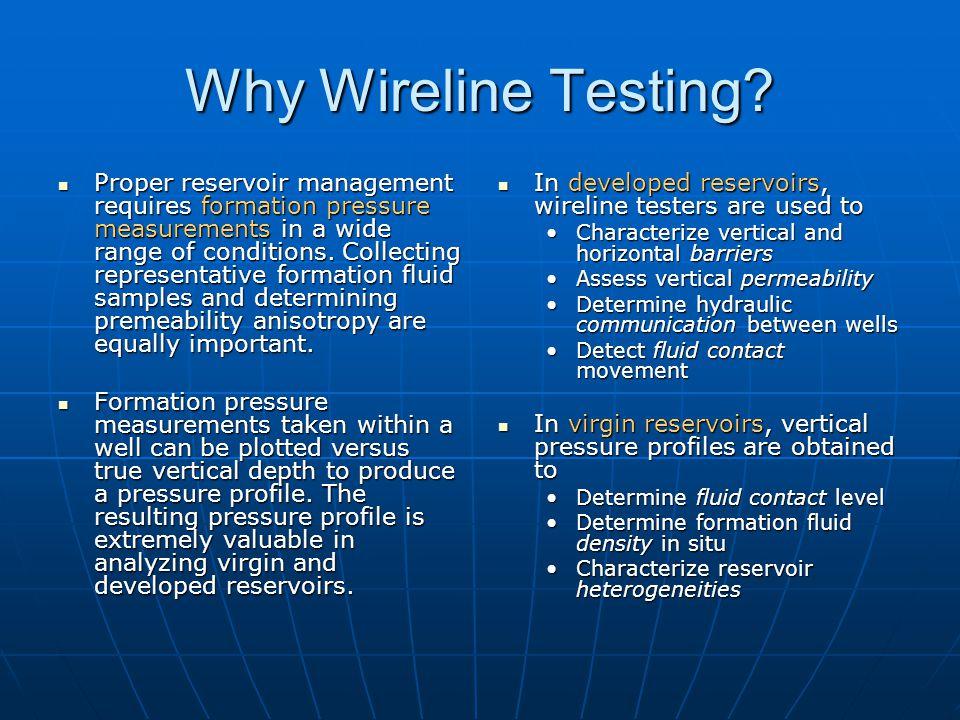 Why Wireline Testing.
