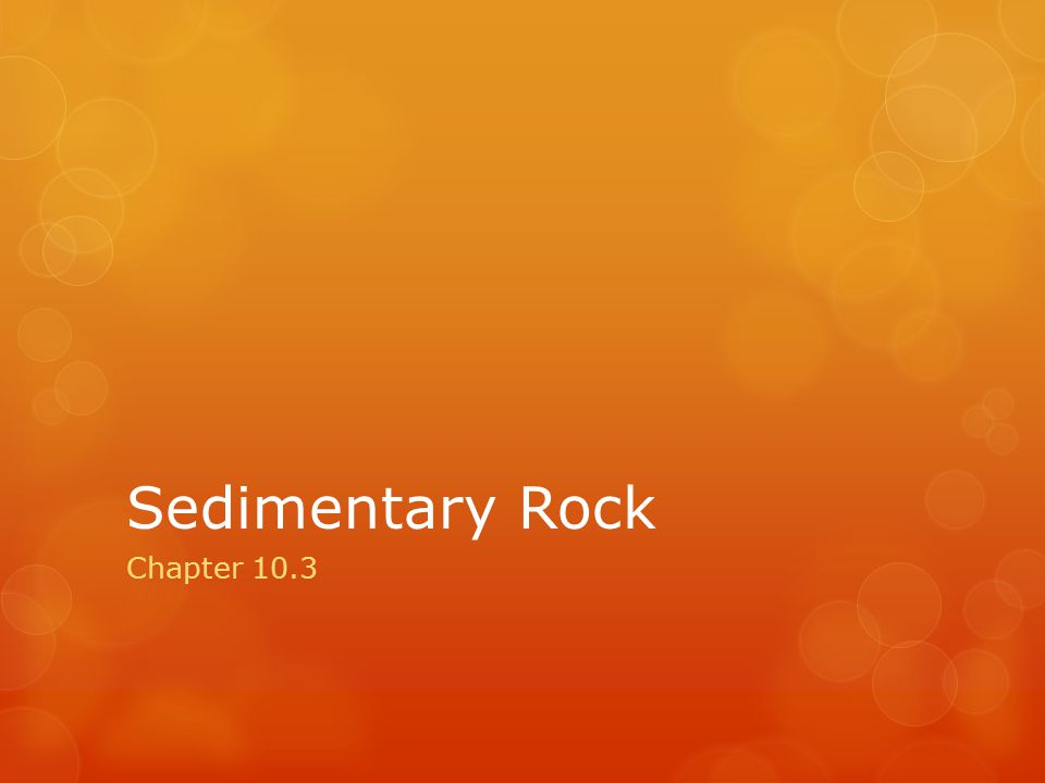 Sedimentary Rock Chapter 10.3