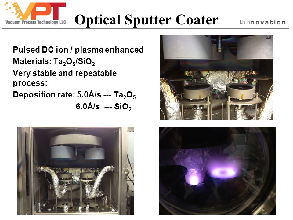 Coating examples: 10-layer Dual-band AR (Ta 2 O 5 /SiO 2 )