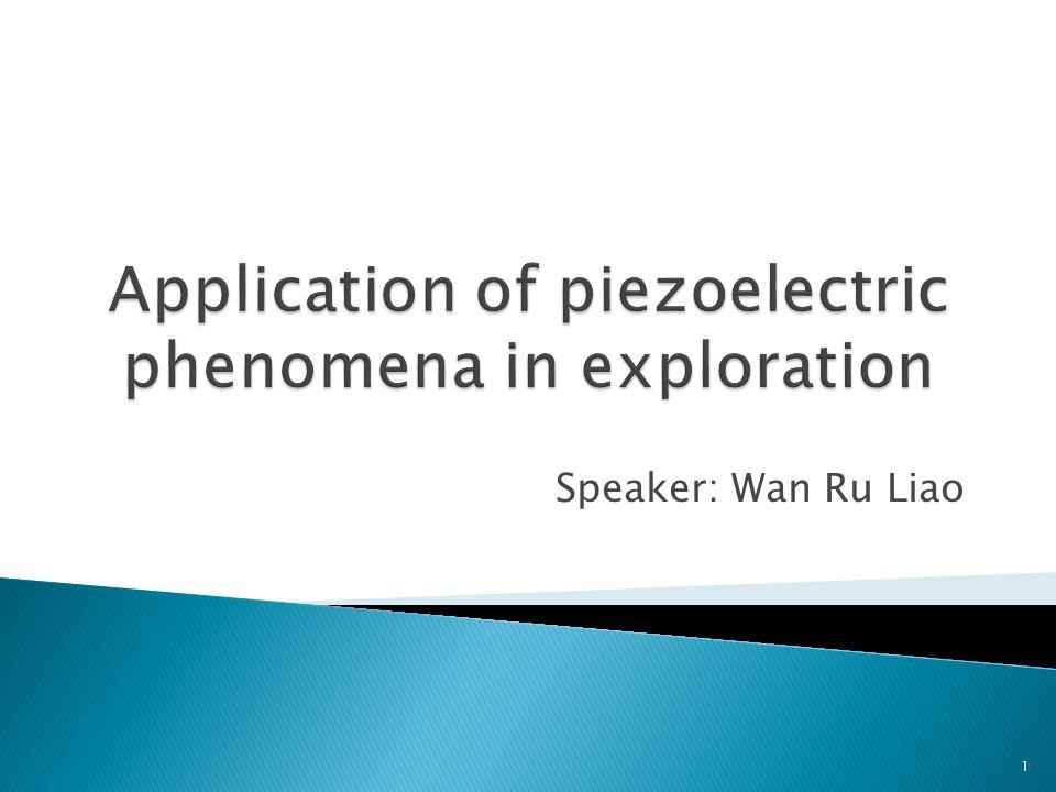 Speaker: Wan Ru Liao 1
