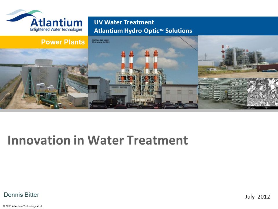 © 2011 Atlantium Technologies Ltd. HOD Solutions HOD system Reverse Osmosis