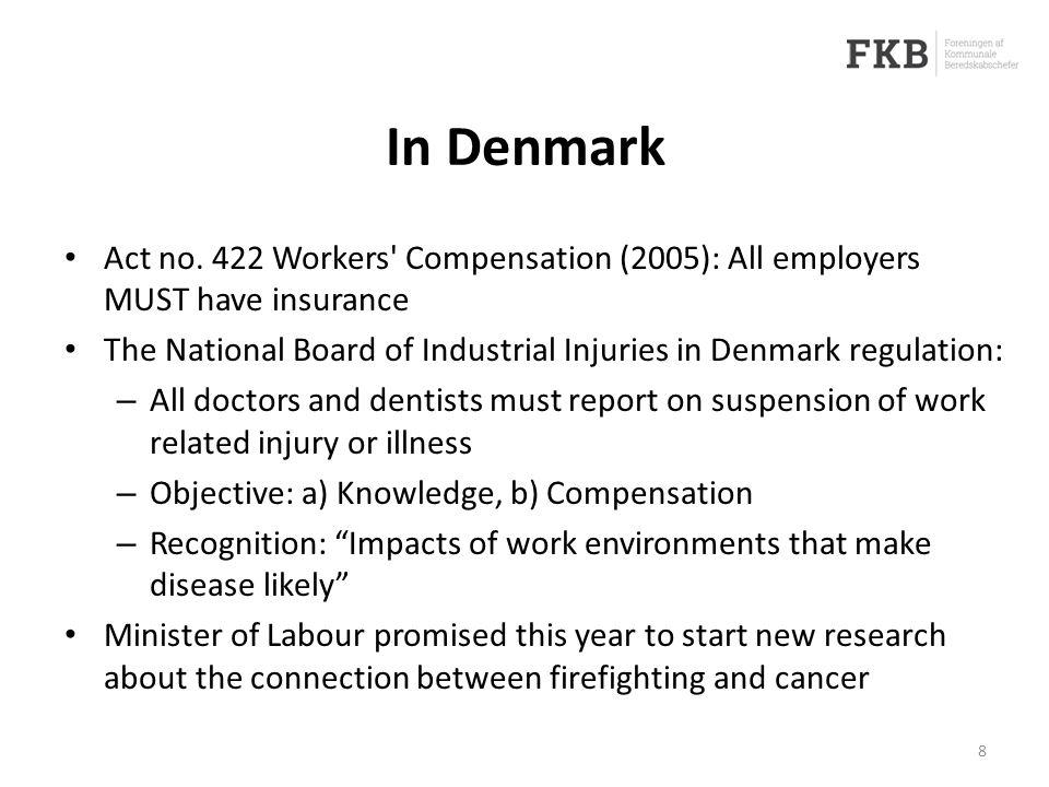 In Denmark Act no.