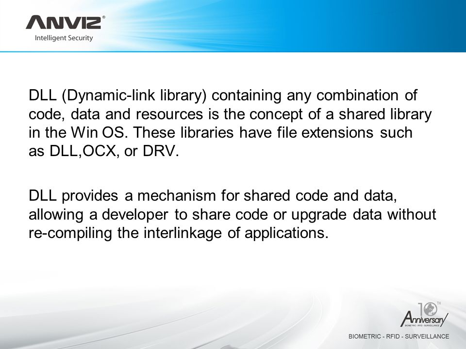 DLL (Dynamic-link library) containing any combination of code, data and resources is the concept of a shared library in the Win OS.