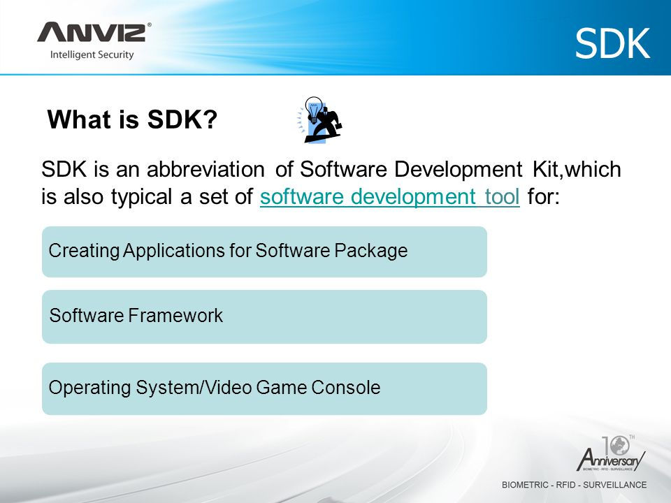 SDK SDK is an abbreviation of Software Development Kit,which is also typical a set of software development tool for:software development What is SDK.
