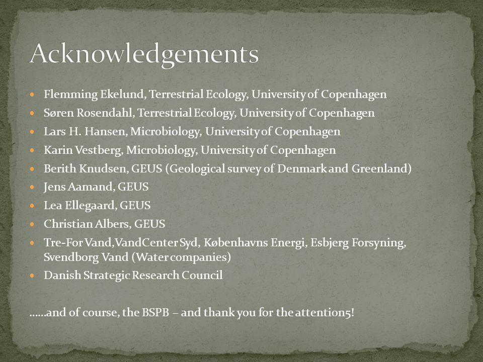 Flemming Ekelund, Terrestrial Ecology, University of Copenhagen Søren Rosendahl, Terrestrial Ecology, University of Copenhagen Lars H.