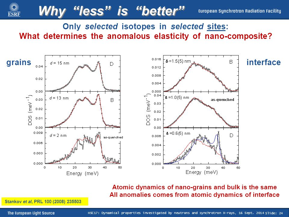 Slide: 24 HSC17: Dynamical properties investigated by neutrons and synchrotron X-rays, 16 Sept.