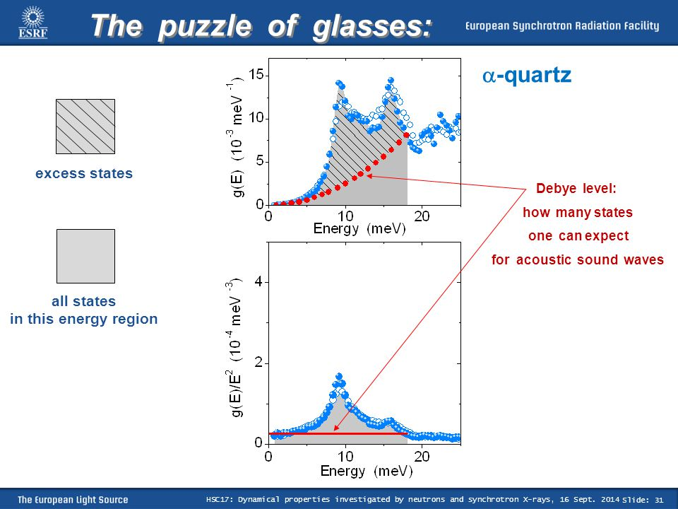 Slide: 31 HSC17: Dynamical properties investigated by neutrons and synchrotron X-rays, 16 Sept.