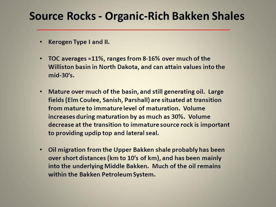 Reservoir Quality – Middle Bakken & Upper Bakken Shale Middle Bakken facies B, C, D, and E can all be reservoirs, if quartz- rich and dolomite-rich (D) or dolomitized (B, C, and E).
