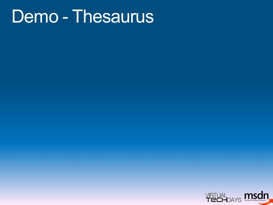 Demo - Thesaurus