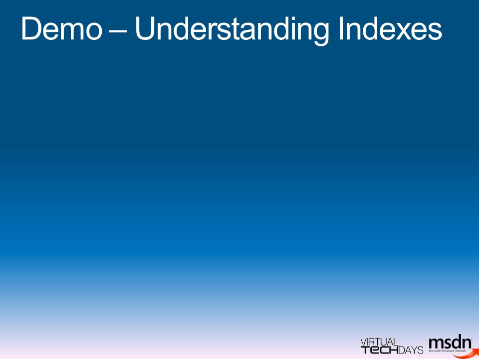 Demo – Understanding Indexes