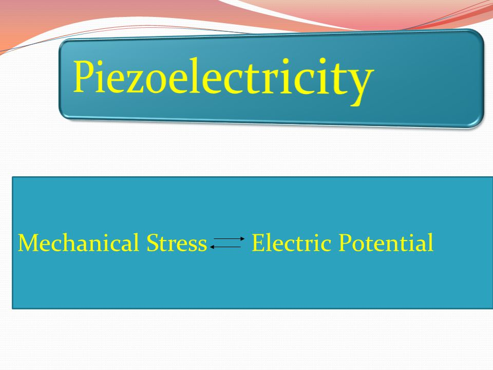 Mechanical Stress Electric Potential