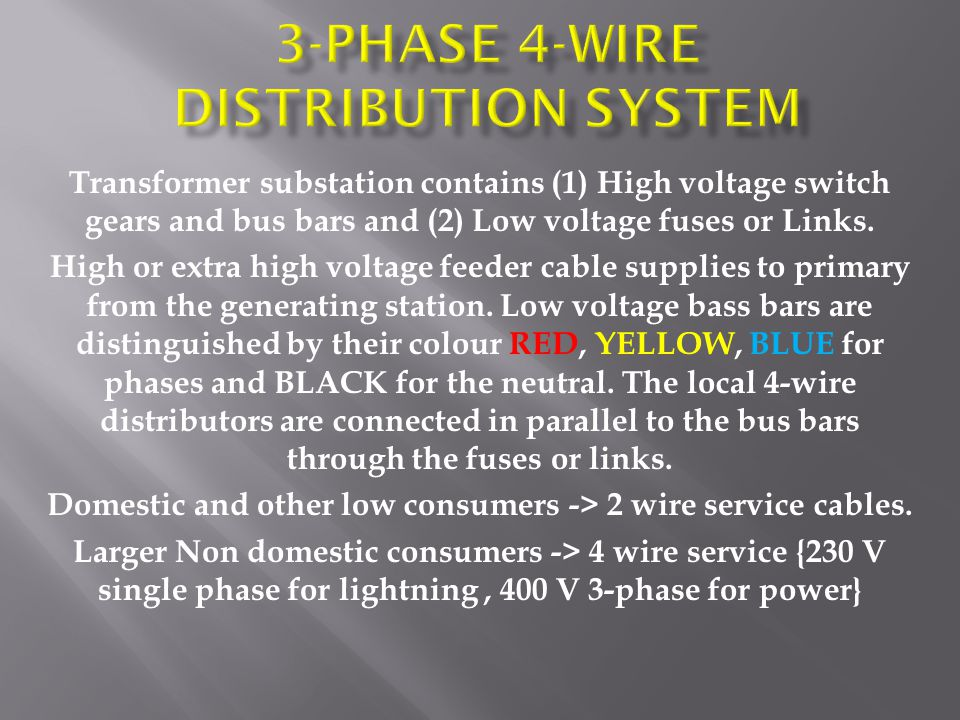 Transformer substation contains (1) High voltage switch gears and bus bars and (2) Low voltage fuses or Links.