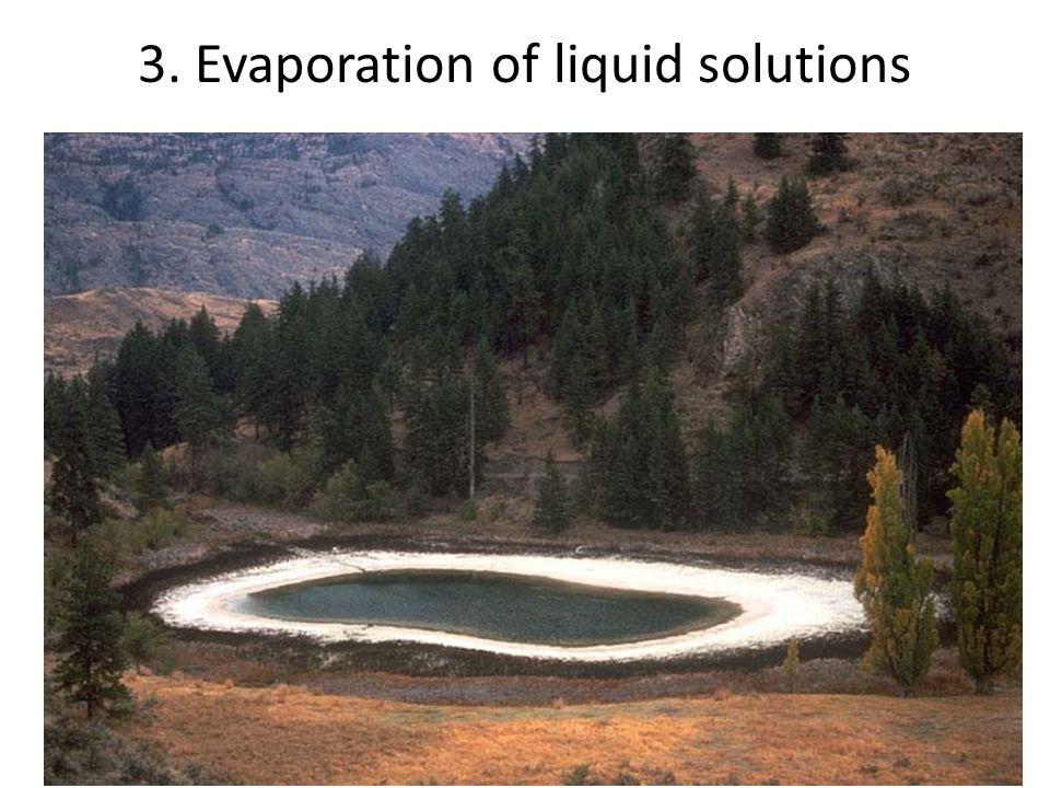 3. Evaporation of liquid solutions