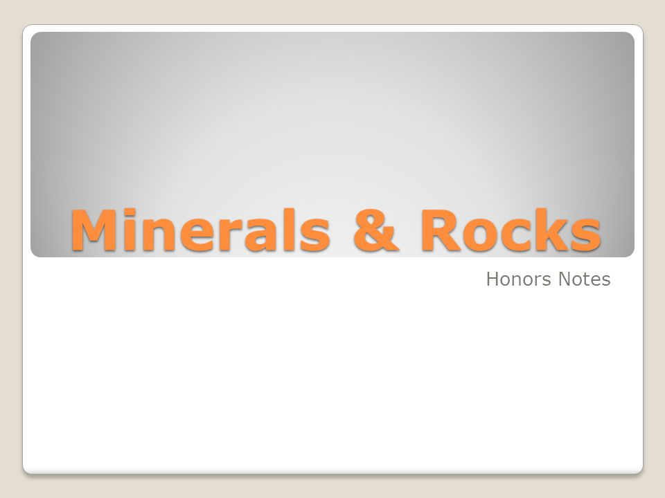 A Mineral is a naturally occurring Inorganic Solid with a definite chemical composition and a crystalline structure.