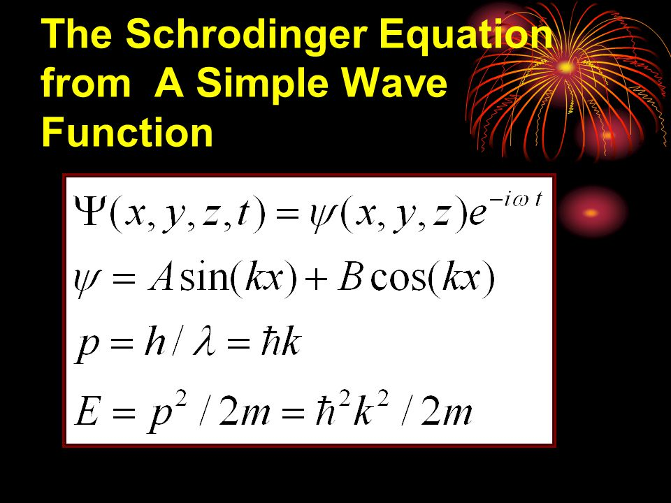 12-1.5 Schrodinger ' s Equation Matter waves and the wave function The probability (per unit time) is  Complex conjugate 共軛複數