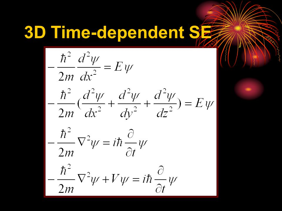 1D Time-independent SE