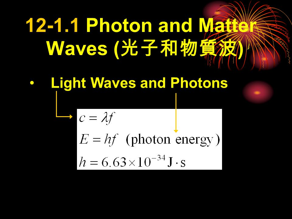 Sections  Photon and Matter Waves  Compton Effect  Light as a Probability Wave  Electrons and Matter Waves  Schrodinger ' s Equation  Waves on Strings and Matter Waves  Trapping an Electron  Three Electron Traps  The Hydrogen Atom