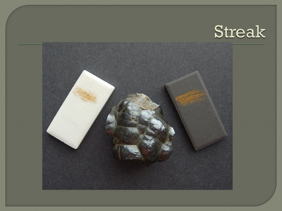 A mineral's hardness is its resistance to being scratched.