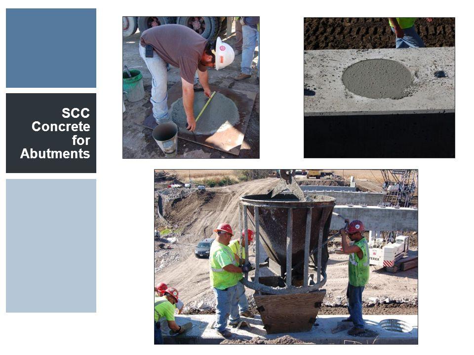 SCC Concrete for Abutments