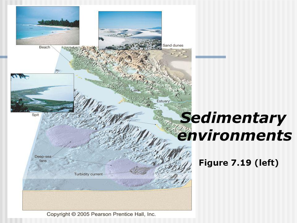 Sedimentary environments Figure 7.19 (left)