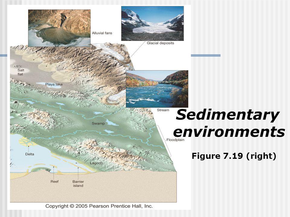Sedimentary environments Figure 7.19 (right)