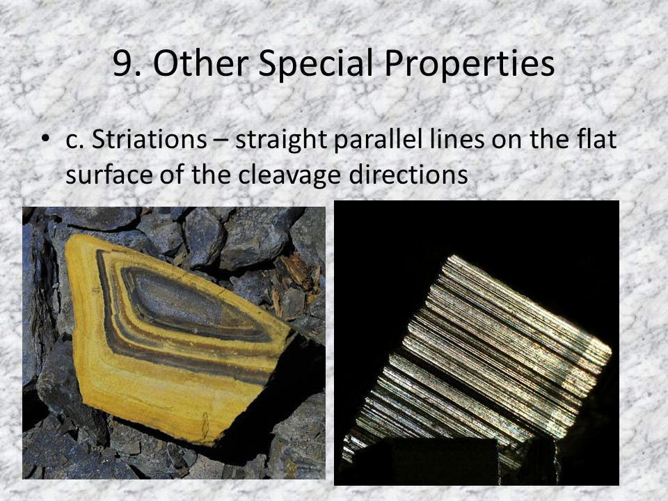 9. Other Special Properties c.