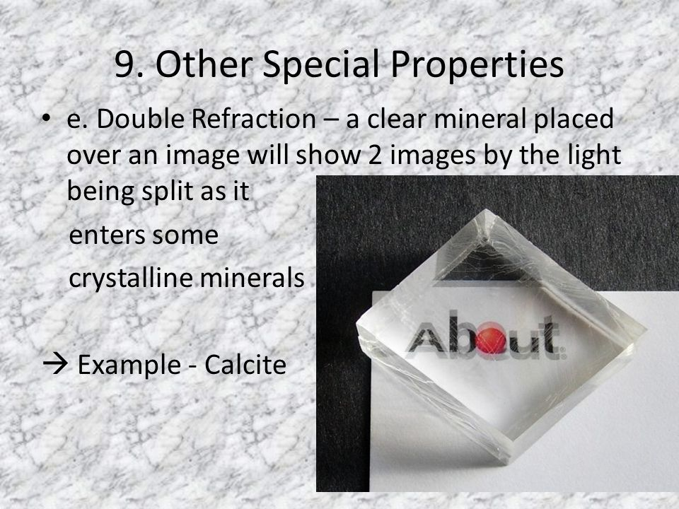 9. Other Special Properties e.