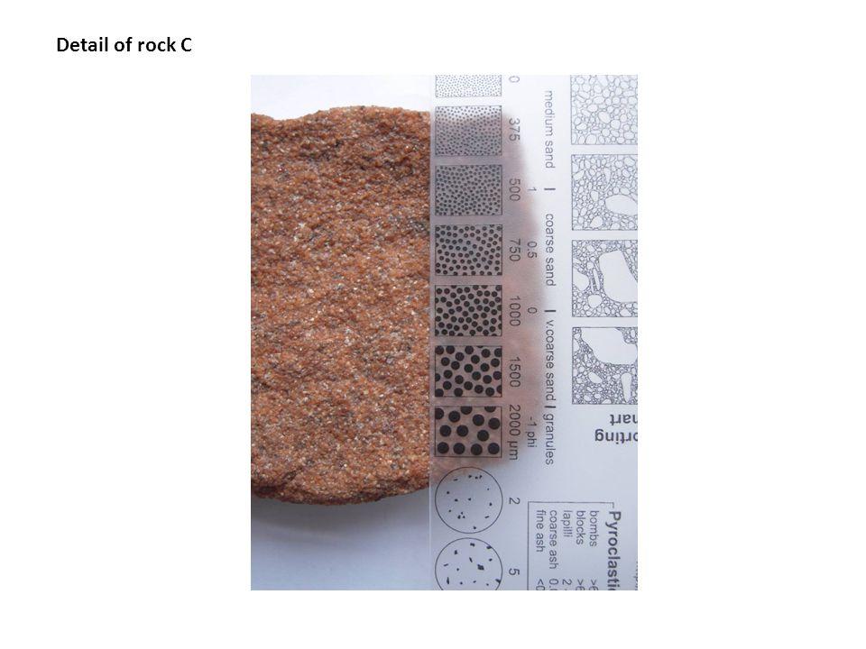 Detail of rock C