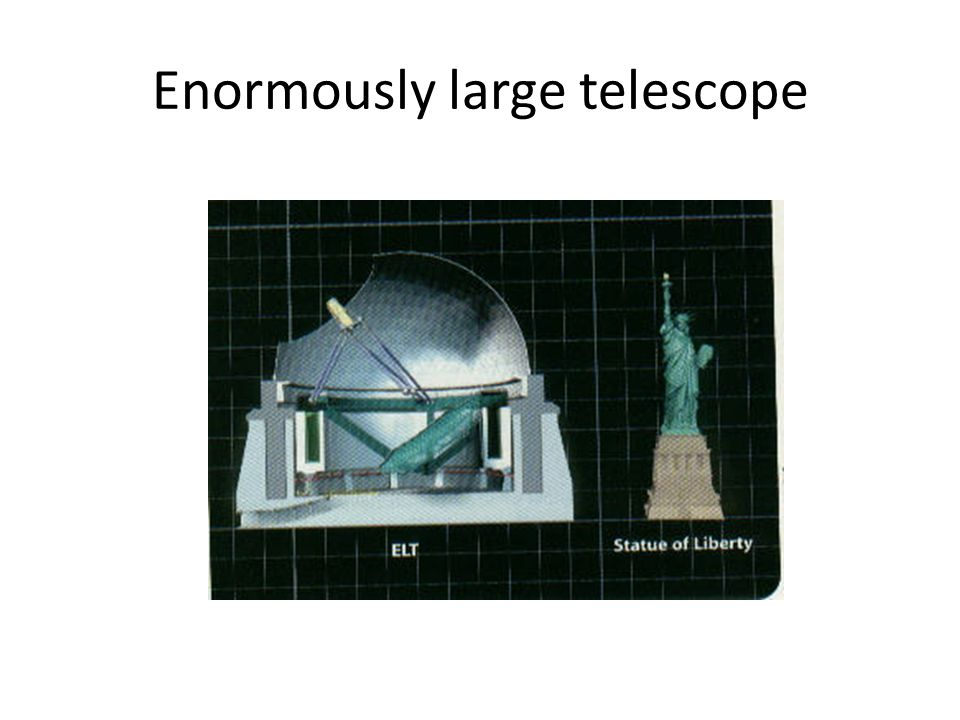 Enormously large telescope