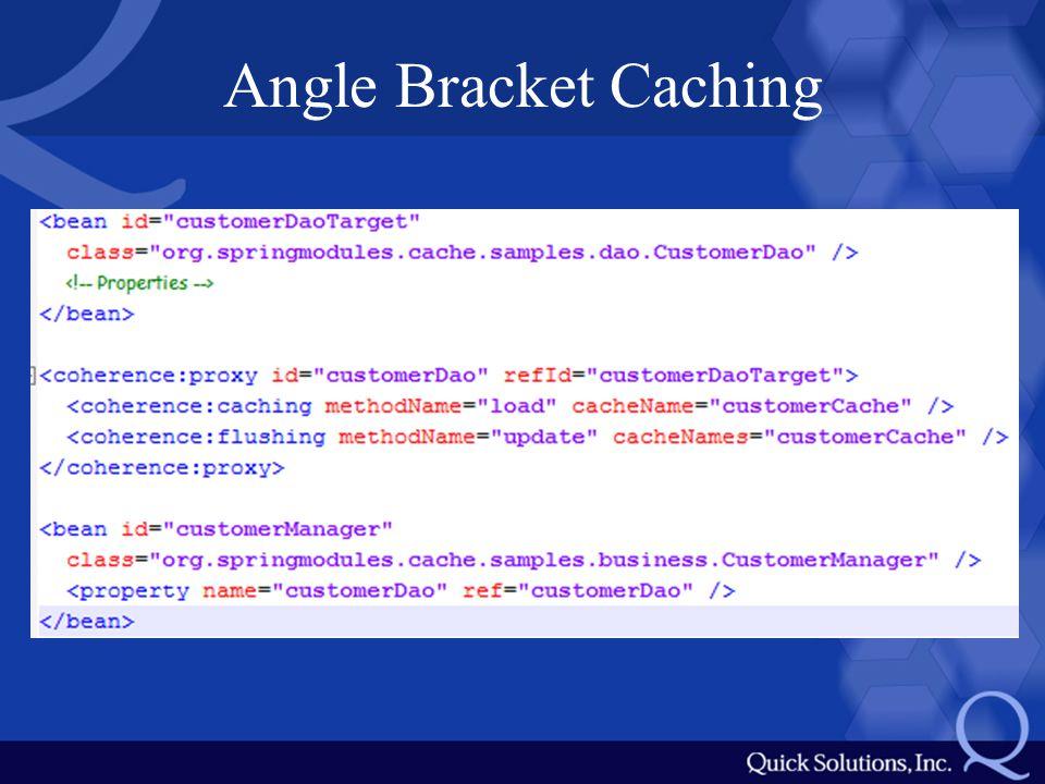 Angle Bracket Caching