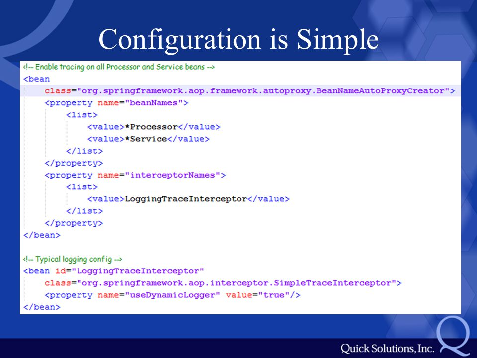 Configuration is Simple