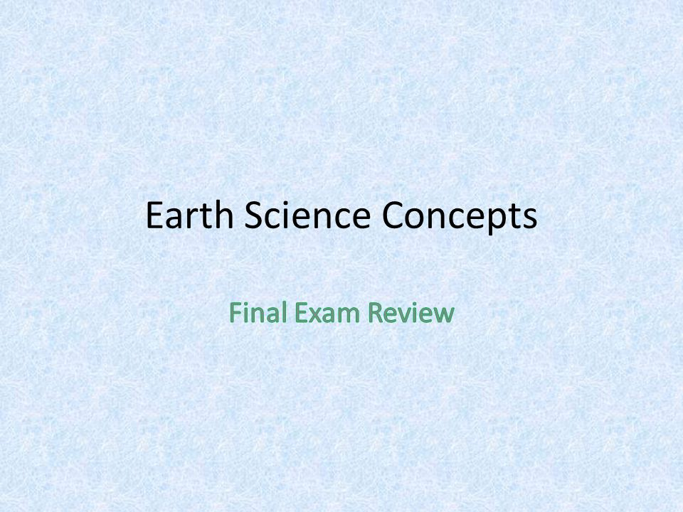 Earth Science Concepts
