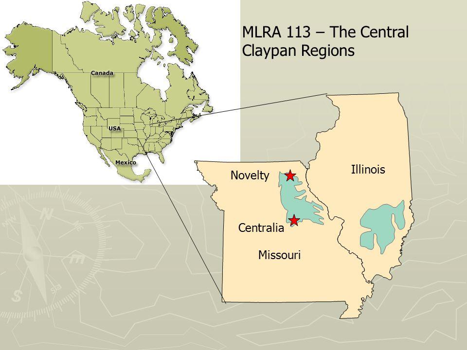 Missouri Illinois Novelty Centralia MLRA 113 – The Central Claypan Regions