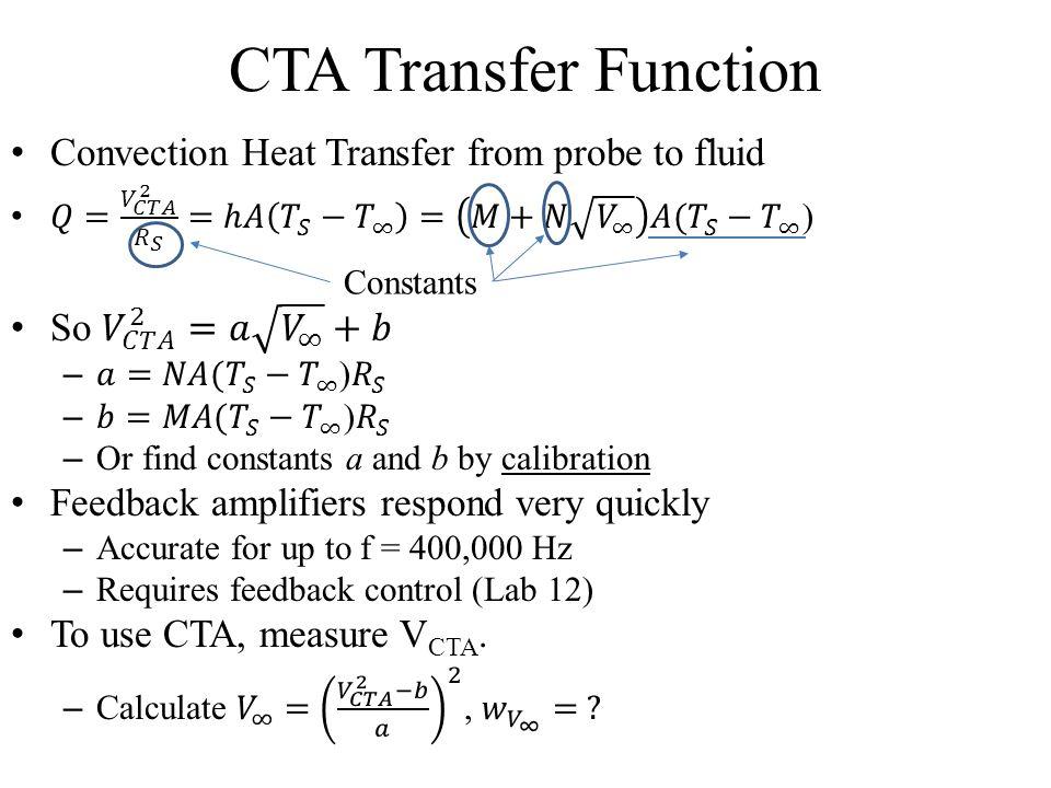 CTA Transfer Function Constants