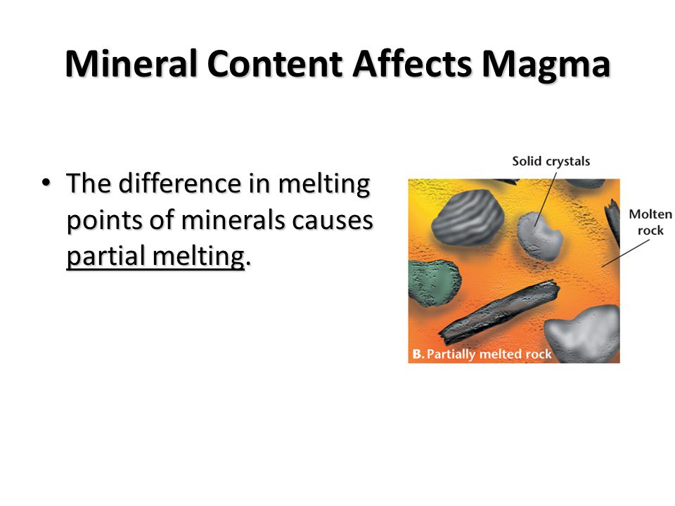Rocks Melt into Magma or Lava Magma is molten (melted) rock below the ground.