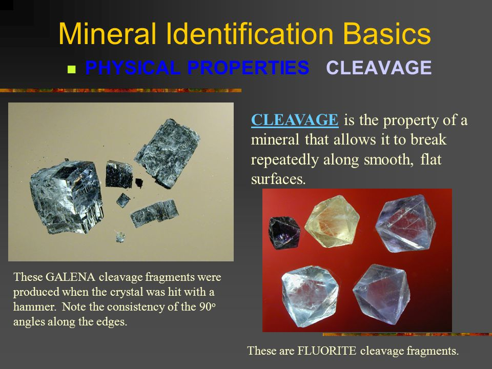 Mineral Identification Basics PHYSICAL PROPERTIES HARDNESS MOH'S SCALE OF MINERAL HARDNESS 1.