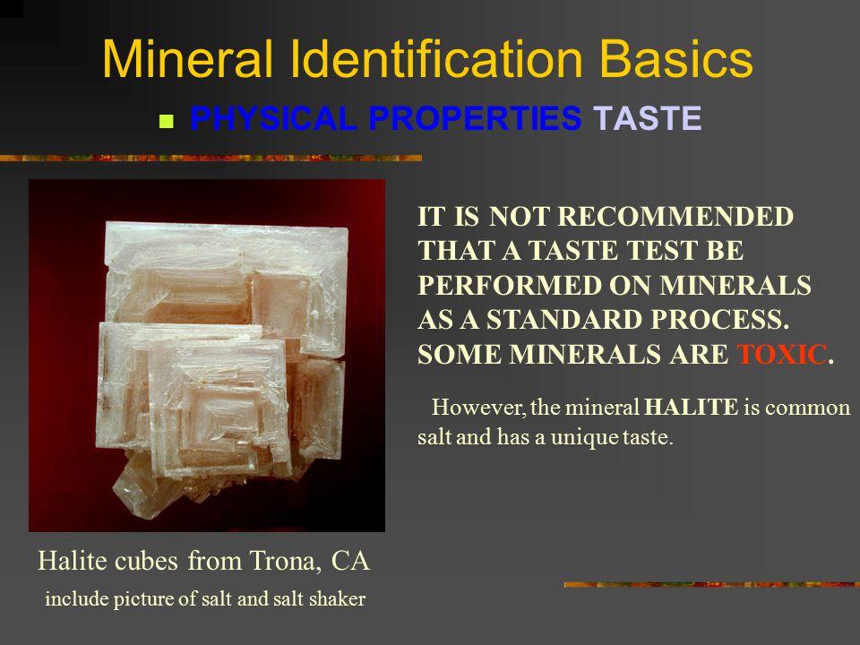 Mineral Identification Basics INDICATIVE COLOR Turquoise Sulfur Malachite Rhodochrosite Azurite End Day 1