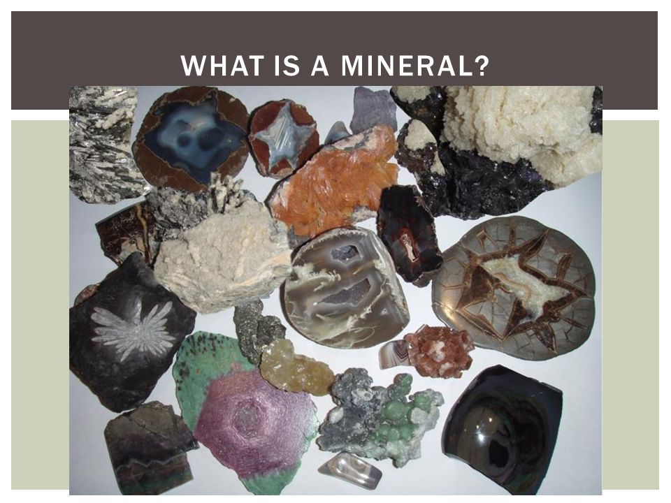  Crystals  Cleavage & Fracture  Color  Streak & Luster  Hardness  Specific gravity PROPERTIES OF MINERALS