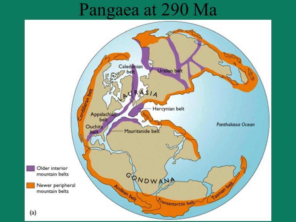 Pangaea at 290 Ma
