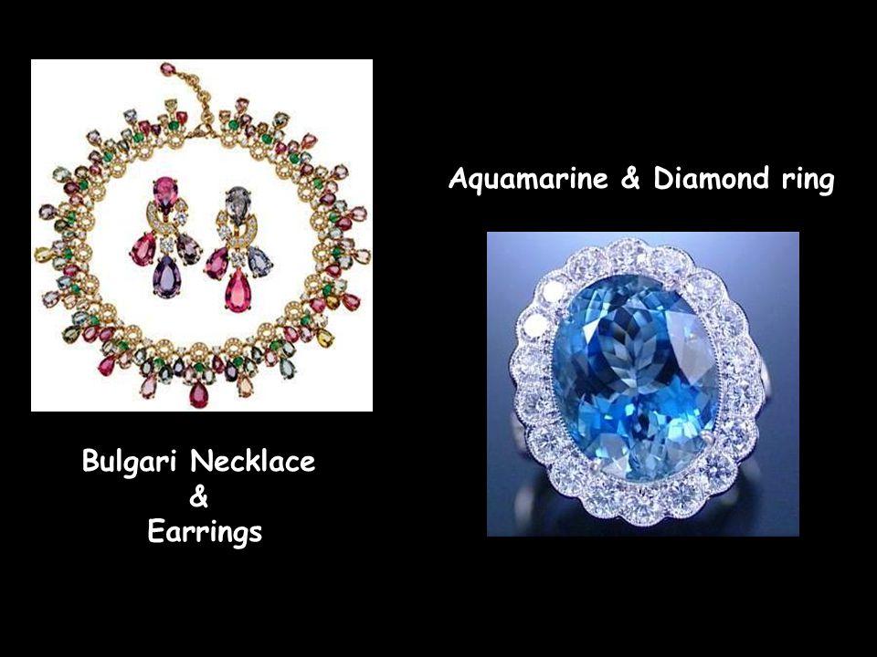 Aquamarine & Diamond earrings Aquamarine and Diamond earrings