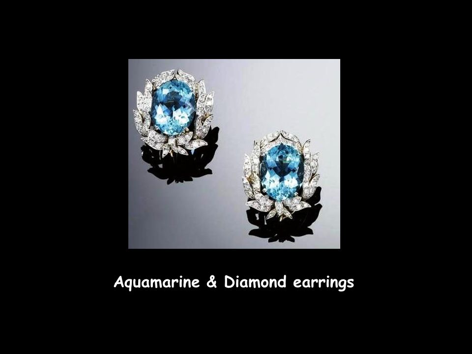 Aquamarine & Diamond earrings Cartier necklace