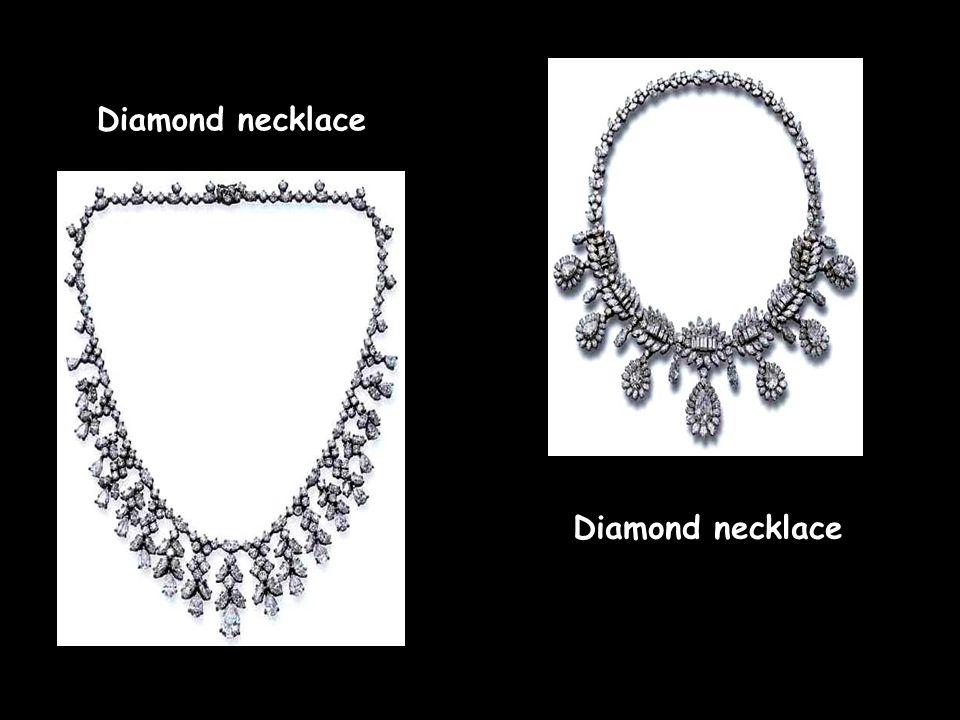 Diamond earrings Diamond necklace