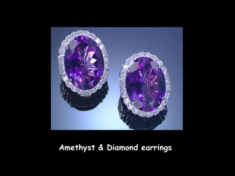 Amethyst & Diamond earrings Amethyst & Diamond earrings