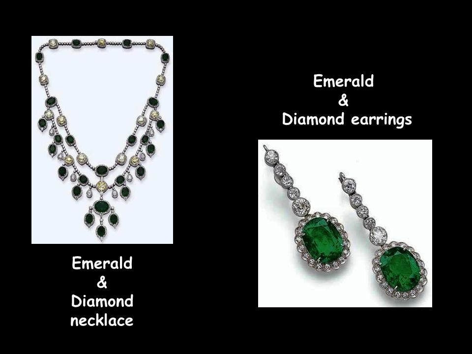 Emerald & Diamond necklace Emerald & Diamond ring