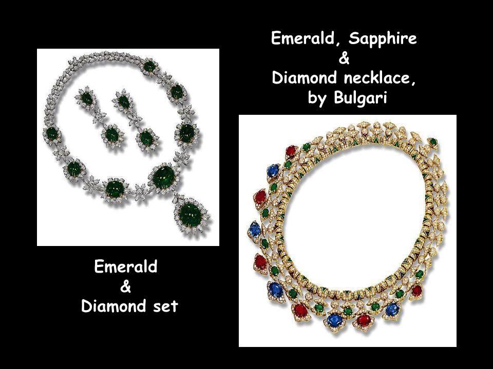 Emerald & Diamond necklace Emerald & Diamond pendant