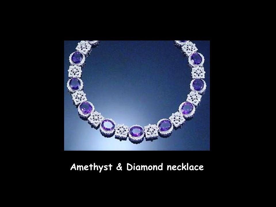 Elizabeth Taylor Emerald & Diamond necklace, by Bulgari Elizabeth Taylor Ruby & Diamond earrings